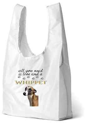 Whippet Dog Design Printed Eco-Friendly Foldable Shopping Bag SBWHIP3 paws2print