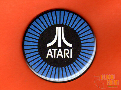 "One 2.25"" round Atari Pole Position fridge/locker magnet arcade steering cap"