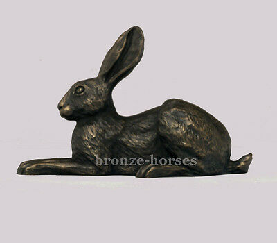VIOLET HARE Bronze Sculpture Superb Gift by Harriet Glen New & Boxed