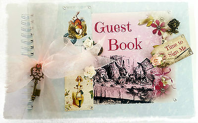 Alice in Wonderland Pastel Shades A5 Party/Wedding Guest Book