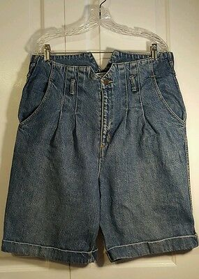 VINTAGE 80s 90s GUESS Jeans by Georges Marciano High Waist Denim Shorts Size 32