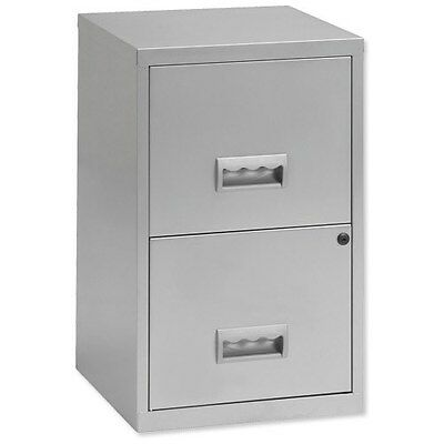 Pierre Henry 2-Drawer Filing Cabinet / A4 / Silver Lockable