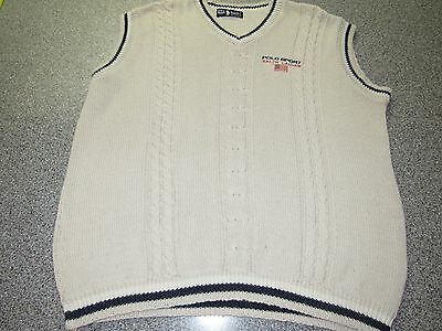 Mens Vintage Polo Sport Ralph Lauren Sweater Vest Size Xl Made In Usa