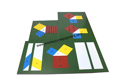 MONTESSORI MATH MATERIALS - Theorem of Pythagoras - NEW