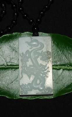 "Rare Chinese ""He Tian"" Nephrite Jade Pendant Dragon ""Pai Zi"" With Certificate"