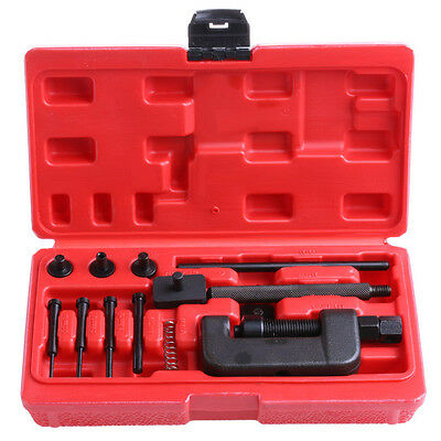Bike Motorcycle Chain Breaker Splitter Link Riveter Riveting Repair Set Tool Kit