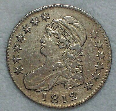1812 BUST Half Dollar *SILVER* O-103 Variety XF Detailing RARE Authentic US Coin