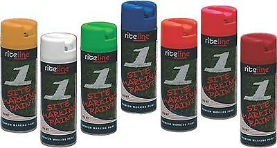 Site Survey Spot Marking Paint - BULK BUY IN CARTONS OF 12  - ALL COLOURS