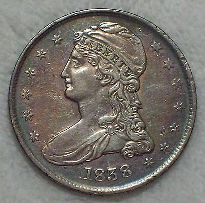 1838 BUST SILVER Half Dollar HALF DOL Type XF Detailing BREEN 4734 Authentic 50C