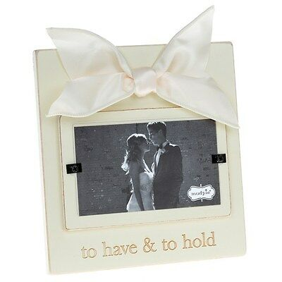 """Vintage Style Wood Photo Picture Frame """"To Have and to Hold"""" Wedding Gift 4x6"""