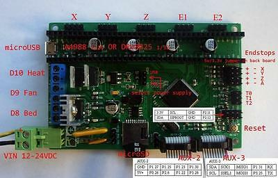AZSMZ Ver 2.1  32bit RepRap 3D Printer controller motherboard Smoothieboard (UK)