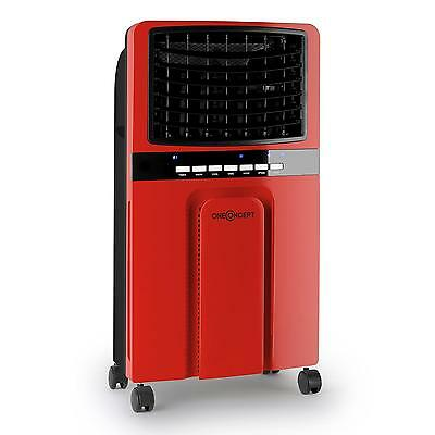 Portable Air Cooler Fan Water Ice Evaporator Timer Remote Red 65 W* Free P&p*