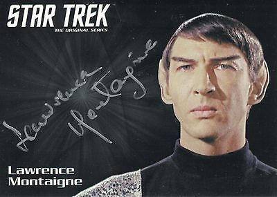 Star Trek TOS 50th Anniversary (2016)  Lawrence Montaigne autograph