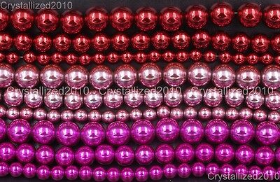 Natural Hematite Gemstone Round Ball Beads Multi-Color Coated 6mm 8mm 10mm 16''
