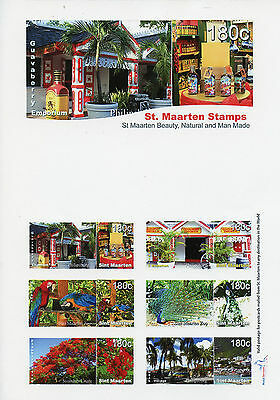 St Maarten 2015 MNH Beauty Natural & Man Made Personalised Stamps 16v / 2 Sheets