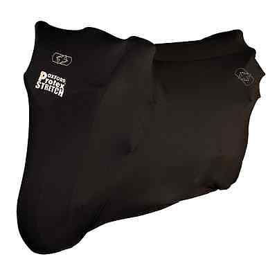 New Oxford Motorcycle Bike Protex Premium Stretch-fit Indoor Cover Black Small