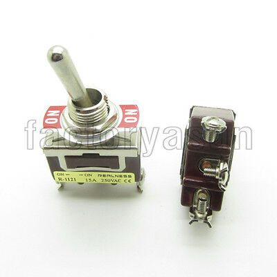 Heavy Duty Toggle Switch SPDT 3 Screw Terminal ON-ON 2 Position 15A 250V