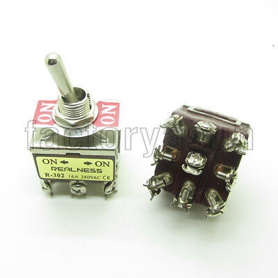Heavy Duty Toggle Switch 3PDT 9 Screw Terminal ON-ON 2 Position 15A 380V