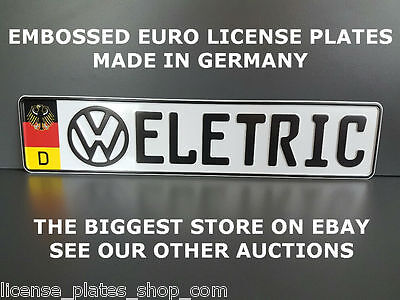 German European License Plate Germany Euro Number Plate Ready Number VW ELETRIC