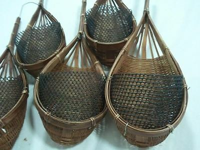 Hooked rattan baskets. (5 Pieces)  Suitable for Orchids & Small Plants/Flowers