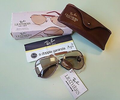 Vintage Ray Ban L9970 Sunglasses B&L Outdoorman Brown Changeable Lenses NOS