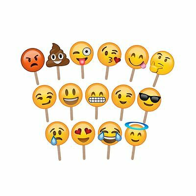 15 Emoji Photo Props Wedding Photography Photo Booth Party