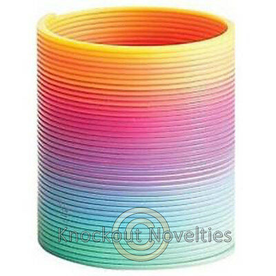 7 Inches Jumbo Rainbow Coil Spring Colors Slinky Seven  Large Big Coils Stairs