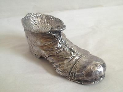Rare Large Sterling Silver Ashtray Vintage Shoe