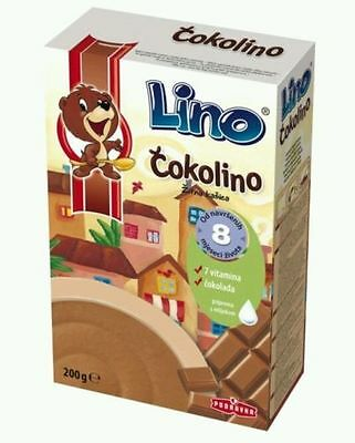 **ČOKOLINO BABY- baby food with milk Cokolino Podravka Croatia**,