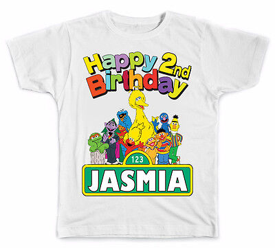 Personalized Sesame Street Birthday T-Shirt