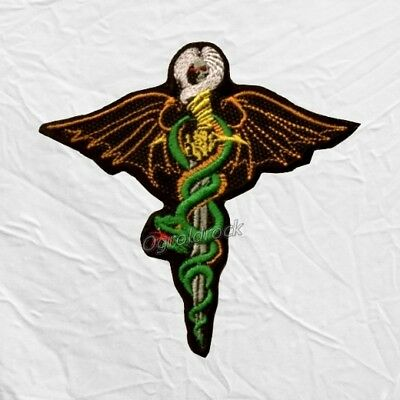 Motley Crue Dr. Feelgood Logo Embroidered Patch Nikki Sixx Winged Snake Rock