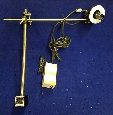 Keyence Cv-050 Ccd Camera, Len, Arm Stand, Ring Fluorescent Light