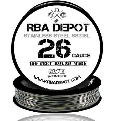 RBA Depot Stainless Steel SS 316L Competition Resistance Wire 26 Gauge AWG 100ft