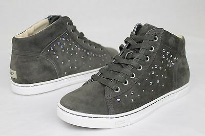 4d73b046c64 Ugg Taylah Crystal Charcoal Grey Suede Casual Ankle Sneaker Size 7 Us