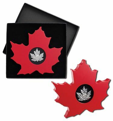 Canada 2015 $20 Maple Leaf-Shaped 1oz Silver Proof (12474)