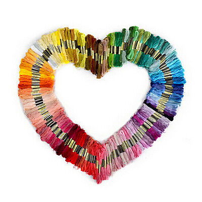 50 Pcs Colors Cross Stitch Cotton Embroidery Thread Floss Sewing Skeins