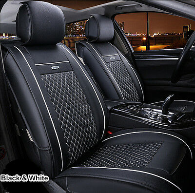5 Car Seats Universal 2PCS Car Seat Covers Front Pair Set PU leather for all car
