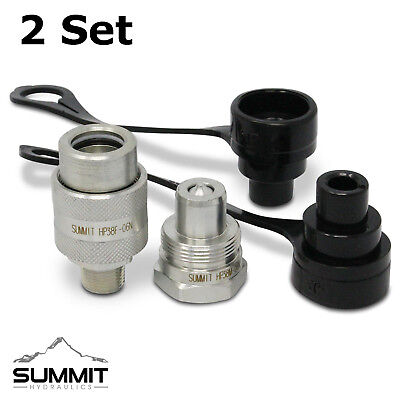 """2 Sets of 3/8"""" 10,000 PSI High Pressure Hydraulic Quick Couplers Replaces C-604"""