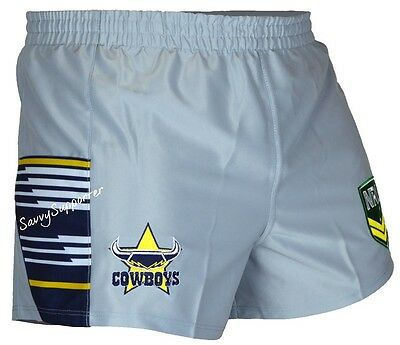 North Queensland Cowboys NRL 2016 Away Footy Shorts 'Select Size' S-4XL