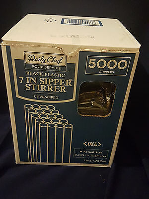 Daily Chef Food Service 7inch/5000ct Sipper Stirrer