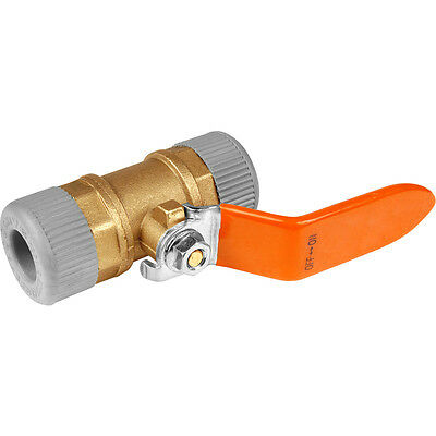 NEW Water Lever tap Valve 22mm push fit connector, plumbing, on off lever, UK