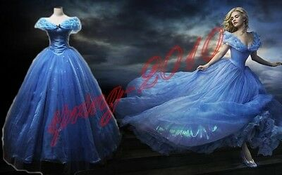 2015 NEUF Film Sable Princesse Cendrillon Robe Princesse Costume Cosplay Adulte