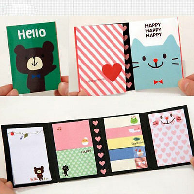 Small Animal Sticker Post Bookmark Memo Sticky Notes Stationery Cute New