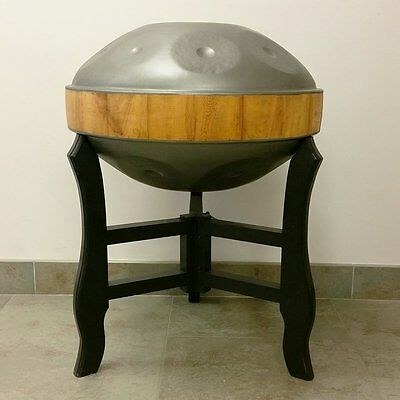 New DOUBLE HANDPAN: * 2-Sides X 9-Notes * +Bag +Stand steel pan handrum hung art