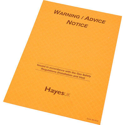 NEW gas safety regulations Report Pads Warning / Advice Notice 25 pages in dupe