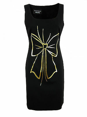 MOSCHINO BOUTIQUE Damen,Women,Donna,Kleid,Dress,Masche,Schwarz,Black,Elegant,%%%