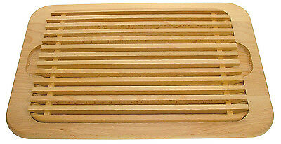 Eddingtons Large Beech Crumb Catcher Bread Board Cutting Slicing Wooden