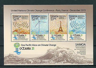 Samoa 2015 MNH UN Climate Change Conference Oceania 21 Pacific 4v M/S Stamps