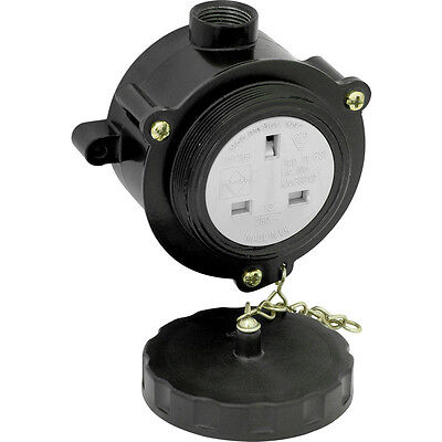 NEW Metal Clad Socket IP66 13A, 3 pin socket with cover, heavy duty, outdoor use