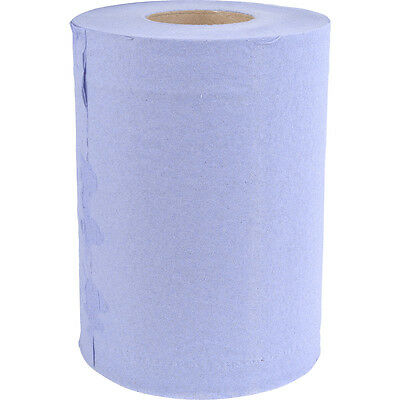 NEW Mini Centre Pull Rolls 2 Ply, cleaning, garage, blue roll, Pack of 12 UK